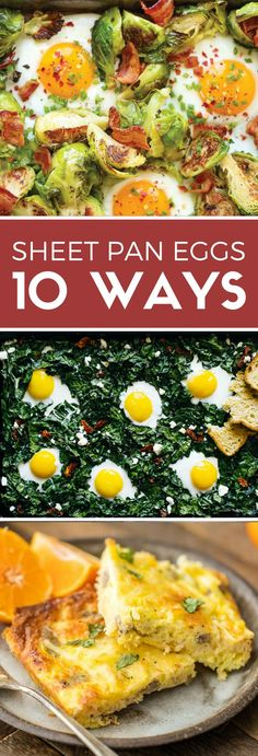 Try these 10 ways to make eggs on a sheet pan! Breakfast pizza, quiche, big-batch scrambled eggs, and more! Perfect for breakfast meal prep or feeding a crowd.