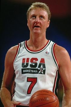 Larry Bird, Sports Basketball, Basketball Players, Dream Team 1992, Celtic Pride, Nba Championships, Boston Sports, Sports Stars, Team Usa