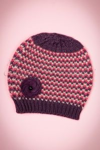 60s Pitlochry Hat in Purple and Pink