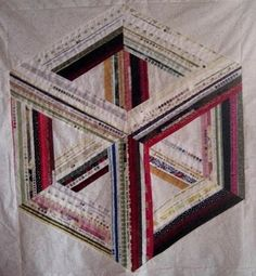 Selvage quilt optical illusion by Eileen Lovett of Michigan. www.SelvageBlog.blogspot.com