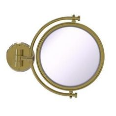 Allied Brass x Polished Brass Double-Sided Magnifying Wall-Mounted Vanity Mirror at Lowe's. Add this stylish wall mounted makeup mirror to your bathroom décor for an elegant touch. Makeup and shaving mirror pivots and tilts to allow for complete Wall Mounted Makeup Mirror, Lighted Wall Mirror, Led Mirror, Mirror Glass, Polished Brass, Solid Brass, Traditional Bathroom Mirrors, Brass Material, Messing