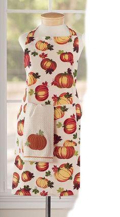 Pumpkin Patch Kitchen Apron - Autumn Apron - Pumpkin Apron -Fall - Thanksgiving  #Unbranded #Country