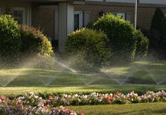Installing landscape irrigation system can be a good idea. Landscape irrigation is a watering system that is used to maintain gardens, and custom landscapes. Water Sprinkler System, Best Sprinkler, Cool Diy, Sprinkler Installation, Lawn Sprinklers, Lawn Maintenance, Green Lawn, Green Grass, Lawn Care