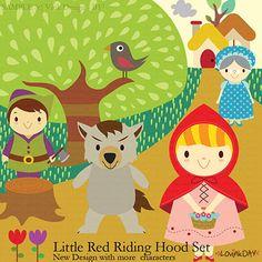 Caperucita Roja Clip Art Set B17 por LovinkDay en Etsy