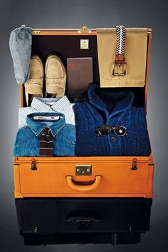suitcase packed, pinned by Ton van der Veer