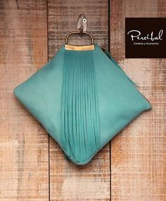Handbags & Wallets - Handbags & Wallets - Aqua clutch fringe clutch fringed purse turquoise by Percibal - How should we combine handbags and wallets? - How should we combine handbags and wallets? Best Leather Wallet, Leather Clutch, Leather Bags, Sacs Design, Bridesmaid Clutches, Fringe Purse, Leather Accessories, Clutch Purse, Evening Bags