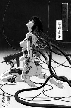 """monochromized: """" Ghost In The Shell.  Edited by:  monochromized """""""