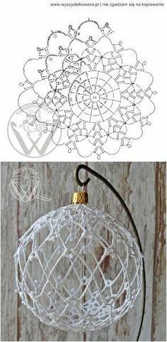 Crochet christmas decorations english 54 Ideas for 2019 Crochet Diy, Lampe Crochet, Art Au Crochet, Crochet Ball, Crochet Home, Thread Crochet, Crochet Crafts, Crochet Doilies, Crochet Flowers