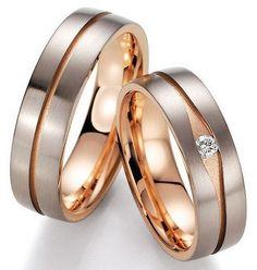 Trauringe Aitern  Weiss-und Rotgoldringe, in 585   Damenring mit 1 Diamanten, 0,07 kt, Farbe: w, Reinheit: vsi,   Ringbreite: 5,5 mm,   Ringhöhe: 2,0 mm,  Oberfläche: glasmattiert