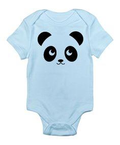 Blue Panda Bodysuit - Infant