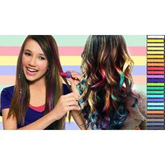 Hair chalk is the latest trend in hair styling all over the world. It has also been introduced in Pakistan as well. Its quite simple to use and it best suited to straight hair. Hair Lights, Light Hair, Dark Hair, Cute Hairstyles, Straight Hairstyles, Hair Chalk, Coloring Tips, Rainbow Hair, Love Hair