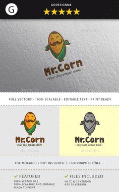 Mr.Corn Logo Template #design Download: http://graphicriver.net/item/mrcorn/11974914?ref=ksioks