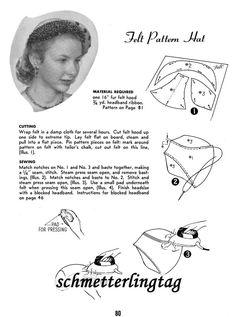 1952 Retro Era Millinery Book Hat Making Make por schmetterlingtag