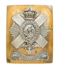 Royal Lanark Militia Victorian Officer's shoulder belt plate circa Paranormal Experience, Military Memorabilia, Thistles, Military Uniforms, Antique Auctions, Cold Steel, Picts, British Army, Unicorns