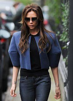 VB's style - loving her jacket!
