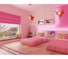 Pink bedroom decoration.
