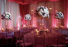 coral wedding table centerpieces