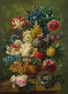 Paulus Theodorus van Brussel: Flowers in a Vase, 1792.