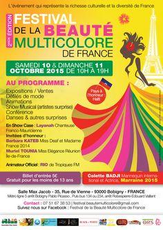 Ayizana participe au Festival de la Beauté Multicolore –   Retrouvez nous les 10 et 11 octobre prochains au Festival de la Beauté Multicolore de France à Bobigny.  Haïti est le pays à l'honneur cette année...Alors ne rater surtout pas cet événement!