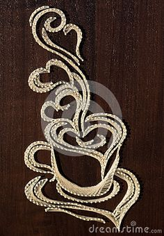 Coffee cup String art by Monicue1, via Dreamstime