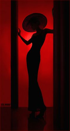 Dramatic Silhouette Red Black Fashion Photography #red, #design, https://facebook.com/apps/application.php?id=106186096099420
