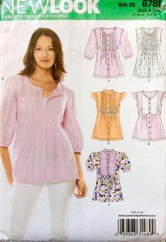 Simplicity New Look 6781 UNCUT Misses Blouse by Lonestarblondie on Etsy
