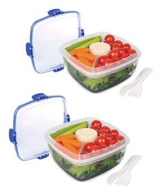 Look what I found on #zulily! Sistema Salad Container - Set of Two by Sistema #zulilyfinds