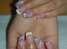 Gel nails with flowers by monka77