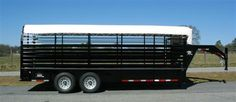 Stoll Livestock Trailer with Canvass Top Trailer Store and Truck Accessories - Galax, Va. Livestock Trailers, Dump Trailers, Cargo Trailers, Horse Trailers, Tilt Trailer, Car Hauler Trailer, Landscape Trailers, Enclosed Trailers, Motorcycle Trailer