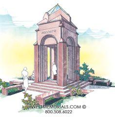 West Memorials - Let us design and build your mausoleum 2017 Design, Beautiful Birds, Granite, Big Ben, Taj Mahal, This Is Us, Memories, Statue, Building