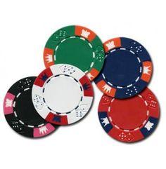 Hoogwaardige Clay Crown pokerchips.  Omdat de chips neutraal zijn kunnen ze zeer breed ingezet worden in poker of casino spellen.