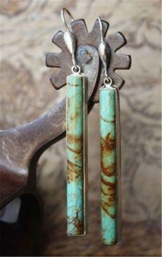 Turquoise-Trendy-Bohemian-Style-925-Silver-Woman-Jewelry-Dangle-Drop-Earrings