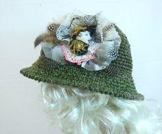 Wide brim hat crochet hat dressy hat trendy hat cloche by Iryna