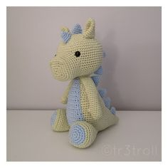 Ravelry: POOF the magic dragon pattern by Double Crochet, Hand Crochet, Crochet Toys, Crochet Patterns For Beginners, Knitting Patterns, Baby Blanket Crochet, Crochet Baby, Arm Crocheting, Diy Gifts For Mothers