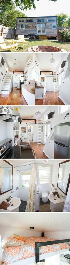 The Music City tiny house by Tennessee Tiny Homes. A 192 sq ft home on wheels!