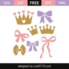 Princess elements free svg