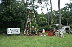 Permanent Christmas Tree in Christmas, Florida
