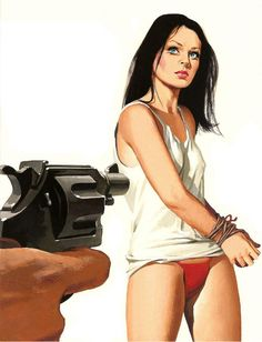 Sex & Crime | Illustration by Benicio #pulp #art #sexy #girls #vintage