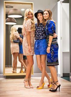 Otwarcie sklepu Marks & Spencer w Łodzi, 24.08.2012, od prawej strony: Aleksandra Kisio, Karolina Gliniecka, Marcelina Zawadzka