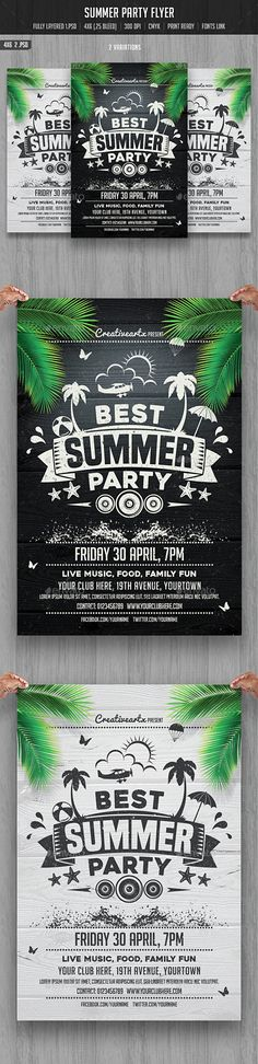 Summer Party Flyer Template PSD. Download here: http://graphicriver.net/item/summer-party-flyer/15462705?ref=ksioks