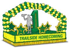 Homecoming Float-- Balloon arch how to