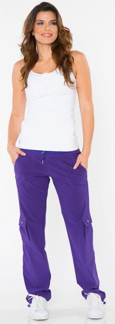 Black Cargo Pant Women's Fitness Fashion by BlueFish Activewear at SanDiegoFit.com