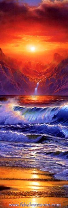 Amazing Tropical Island Paradise Painting Art!