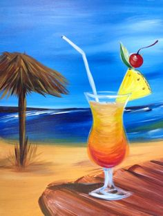 Tiki Sangria ~ Maybe make the palapa a bar or holding a hammock.  It's a bit plain as is.
