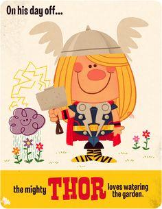 Thor's day off by Matt Kaufenberg