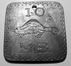 1784 Hudson Bay Co, Ten 10 Beaver Furs, Indian Trade Tag | eBay