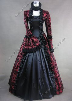 Victorian Gothic Ball Gown Steampunk Dress Reenactment Costume Cosplay 119 M | eBay