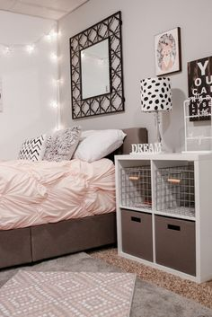 Adorable feminine bedroom