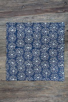 Mothology.com - Indigo Dyed Napkin with Starfish Design, $10.95 (http://www.mothology.com/indigo-dyed-napkin-with-starfish-design/)