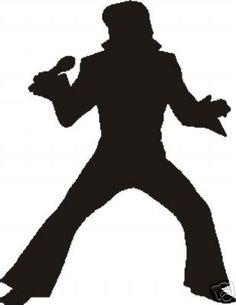 Fan Art of Silhouette for fans of Elvis Presley. Elvis Tattoo, Festa Rock Roll, Rock N Roll, Elvis Birthday Party, Elvis Cakes, Elvis Presley Images, Flower Power, Disco Party, 60s Party